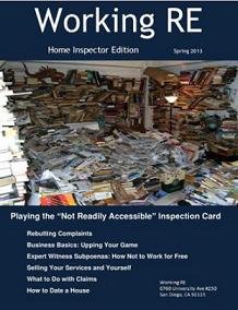 Home Inspector, Home Inspector Magazine, Home Inspector News, WRE, Working RE Magazine