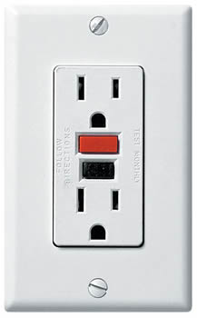 GFCI receptacle, Home Inspectors, Electrical Systems