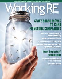 WRE, Working RE Magazine, Appraiser News, Appraiser Magazine, Real Estate Appraisers, Volume 36