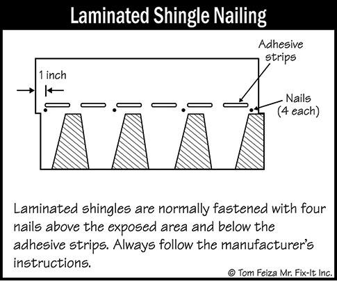 laminated shingle nailing