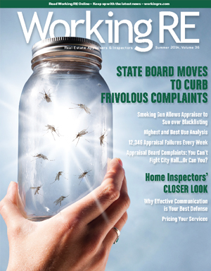 WRE, Working RE Magazine, Appraiser News, Appraiser Magazine, Real Estate Appraisers, Volume 35